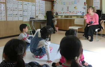 English class in uchiko, Spring 2017